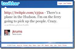 Twiter Plane Hudson
